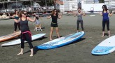 Fitness Lesson on SUP board