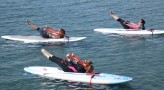 Pilates on SUP board